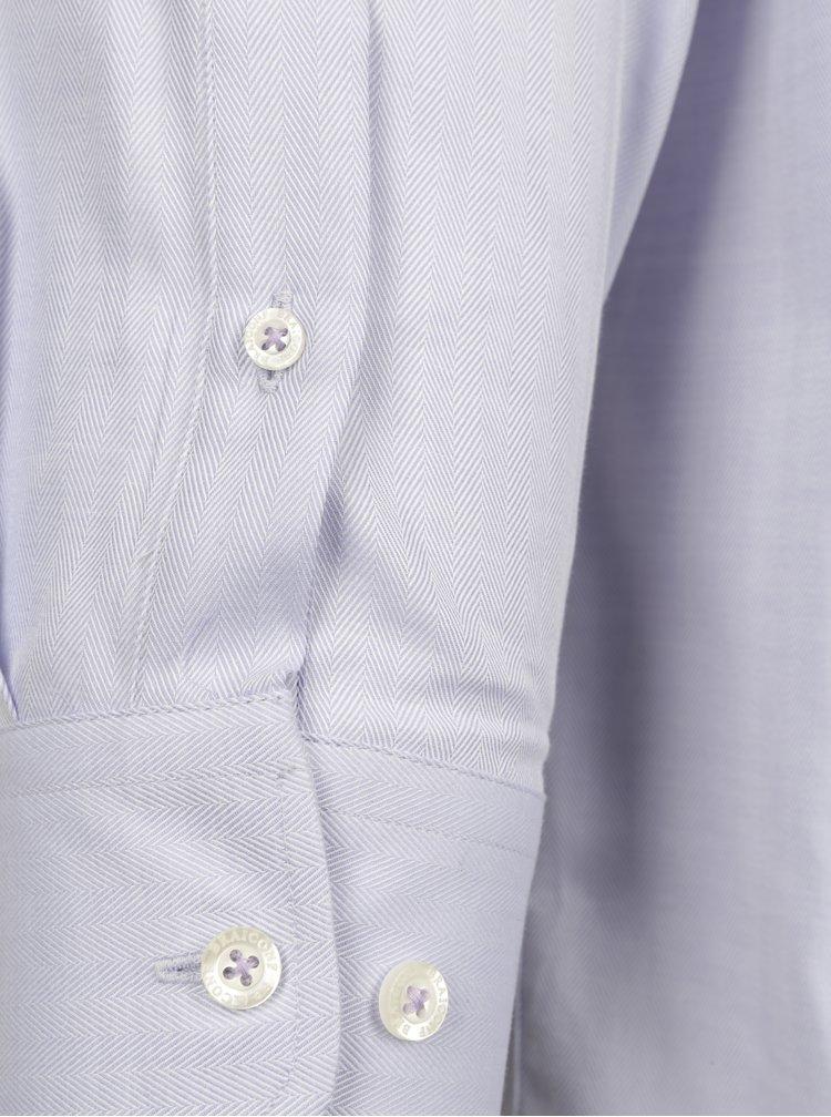 Camasa regular fit violet cu model herringbone Braiconf Maxmilian