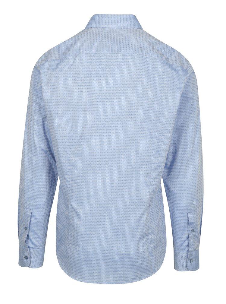 Cămașă bleu slim fit cu model discret  Braiconf Maxmilian