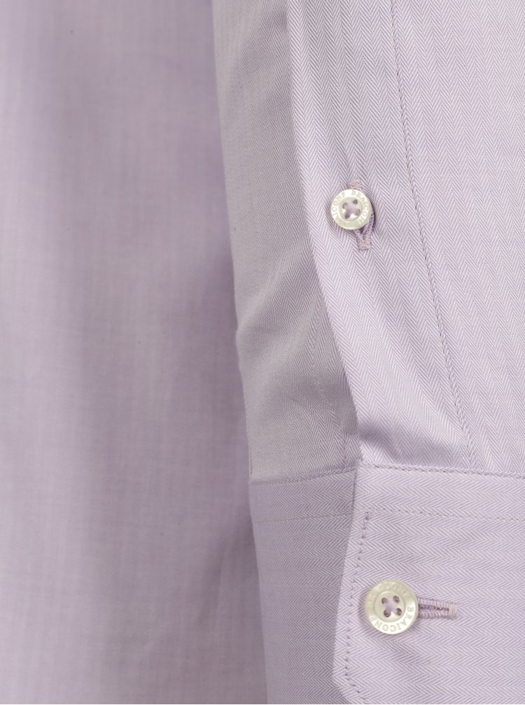 Camasa violet super slim cu model discret Braiconf Narcis