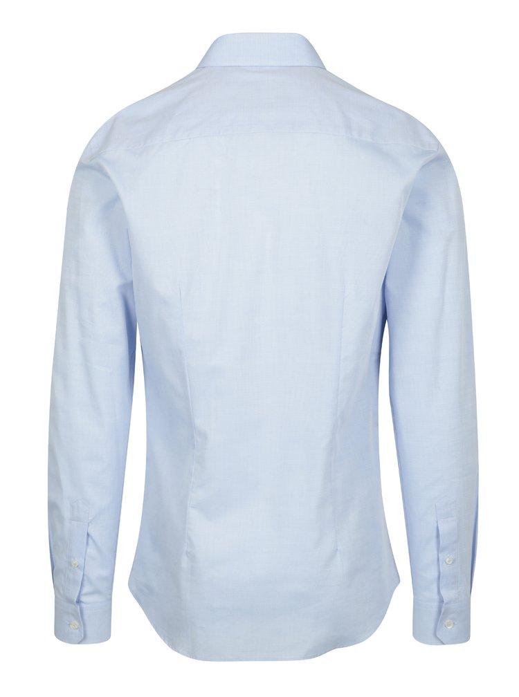 Světle modrá formální super slim fit košile s jemným vzorem Braiconf Narcis