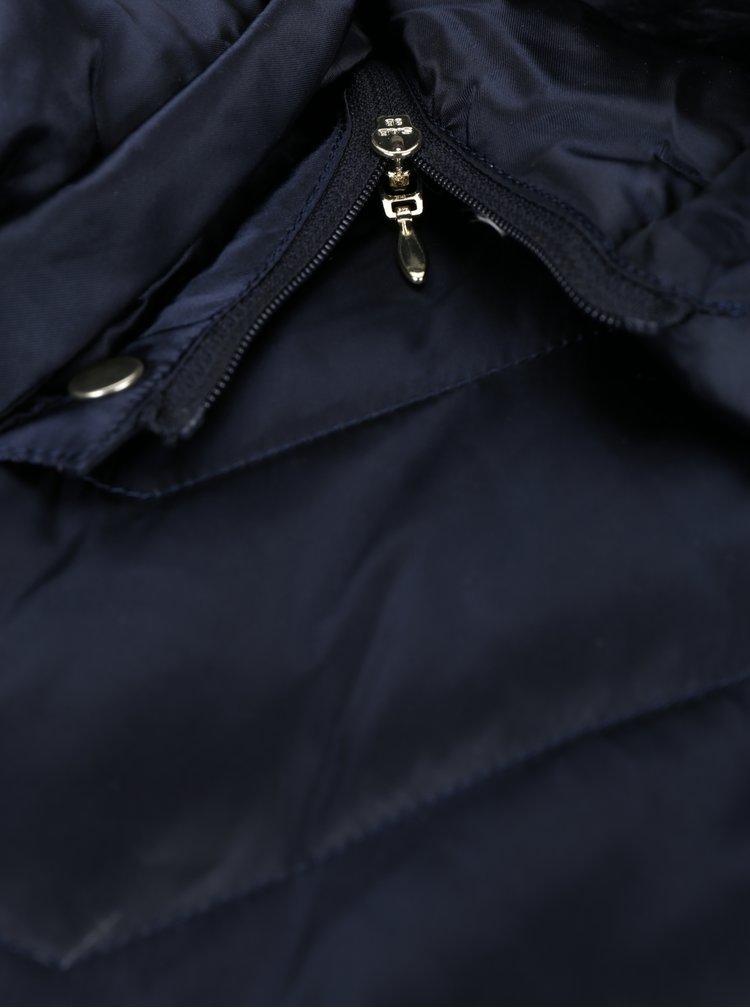 Geaca parka lunga matlasata bleumarin pentru femei Geox