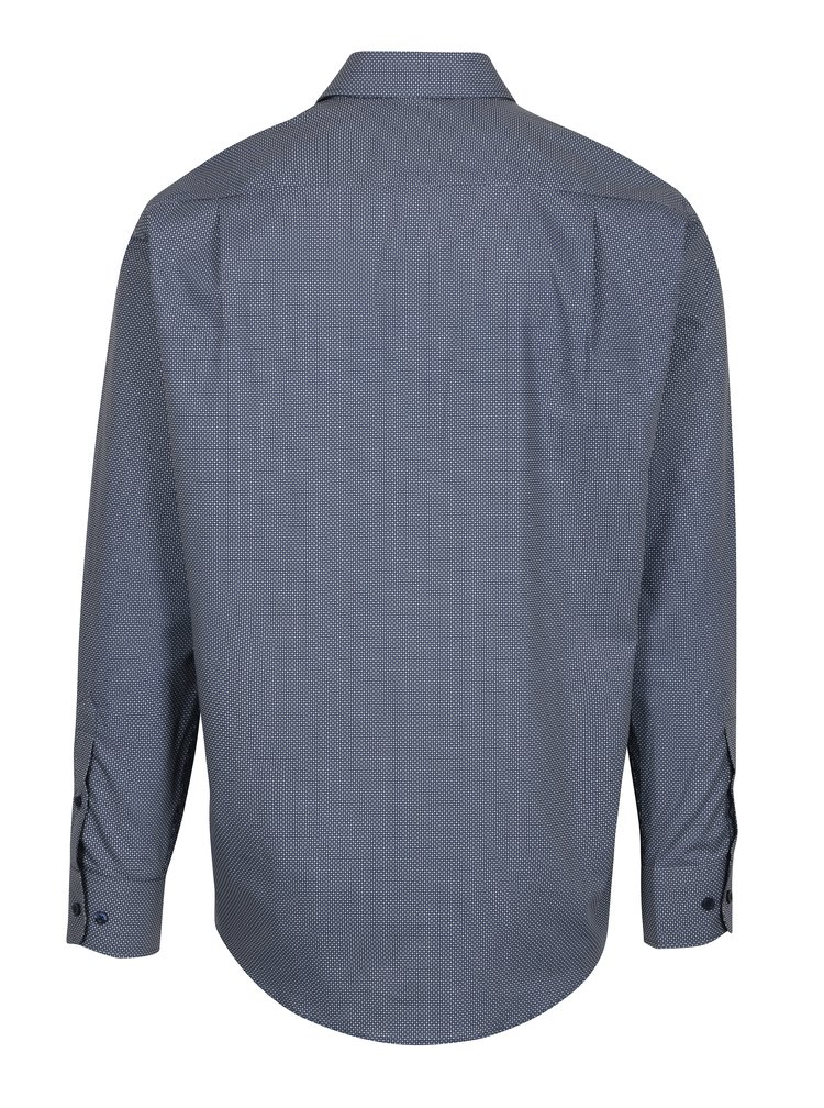 Tmavě modrá vzorovaná formální regular fit košile Braiconf Nicoara