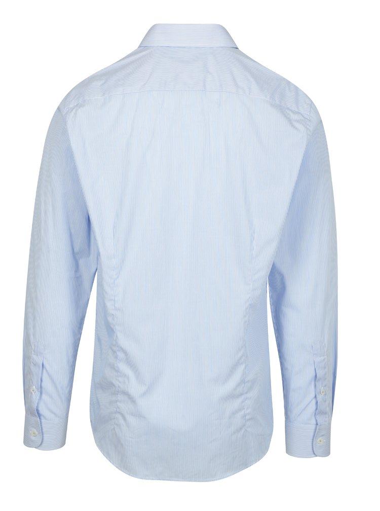 Cămașă slim fit alb&albastru în dungi Braiconf Flaviu