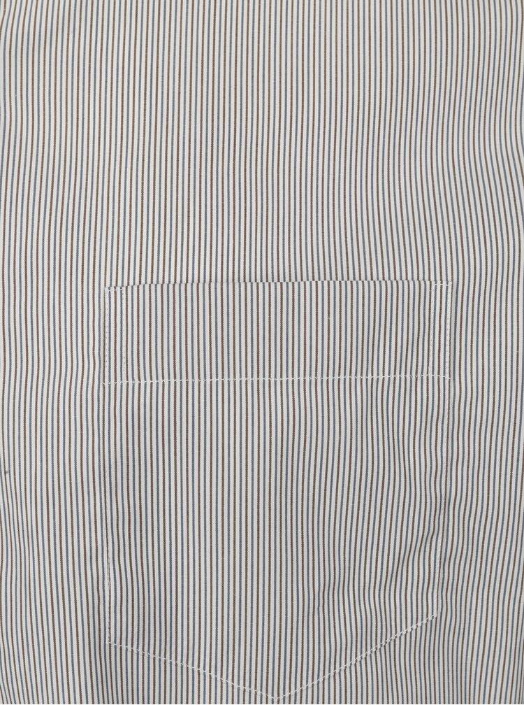 Cămașă albă super slim fit în dungi  Braiconf Flaviu