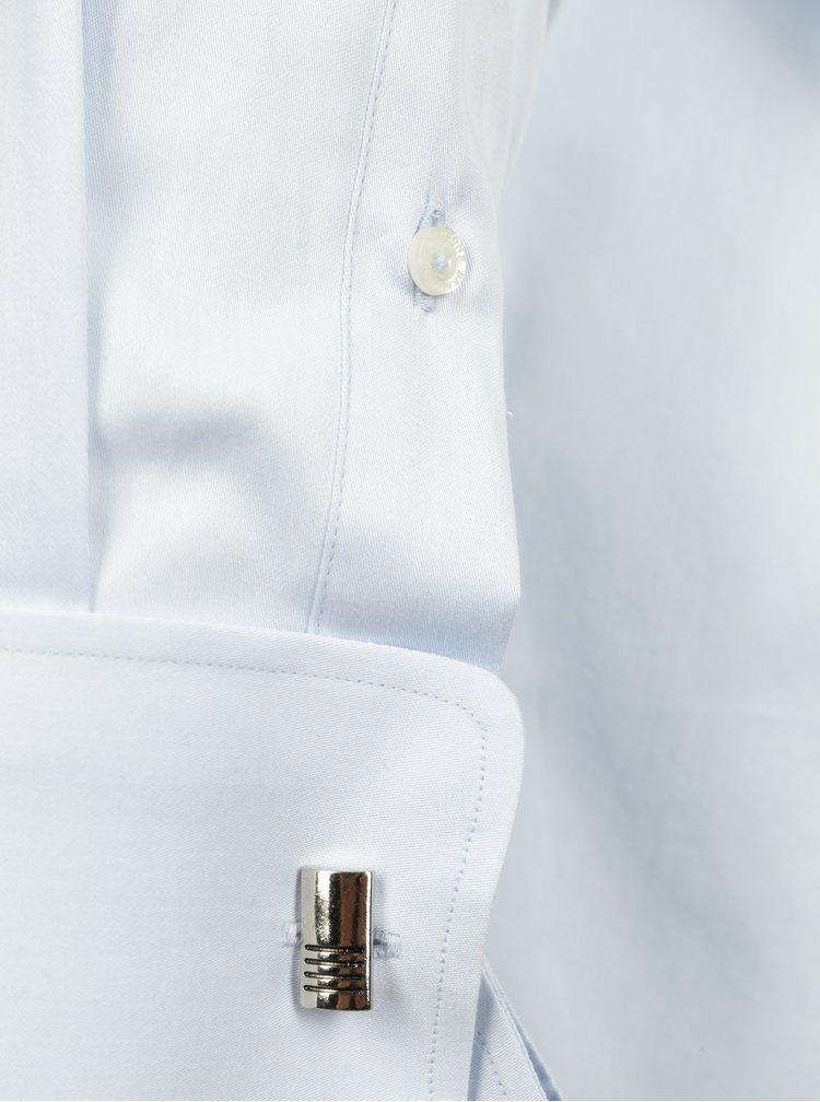 Cămașă regular fit bleu cu butoni metalici  Braiconf Nicu