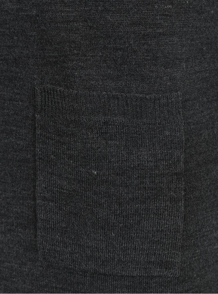 Rochie - pulover gri cu buzunare Haily´s Tamara