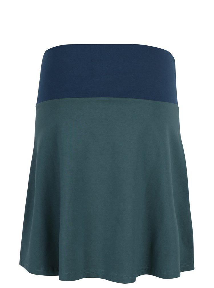 Fusta elastica bleumarin cu verde Tranquillo Manon