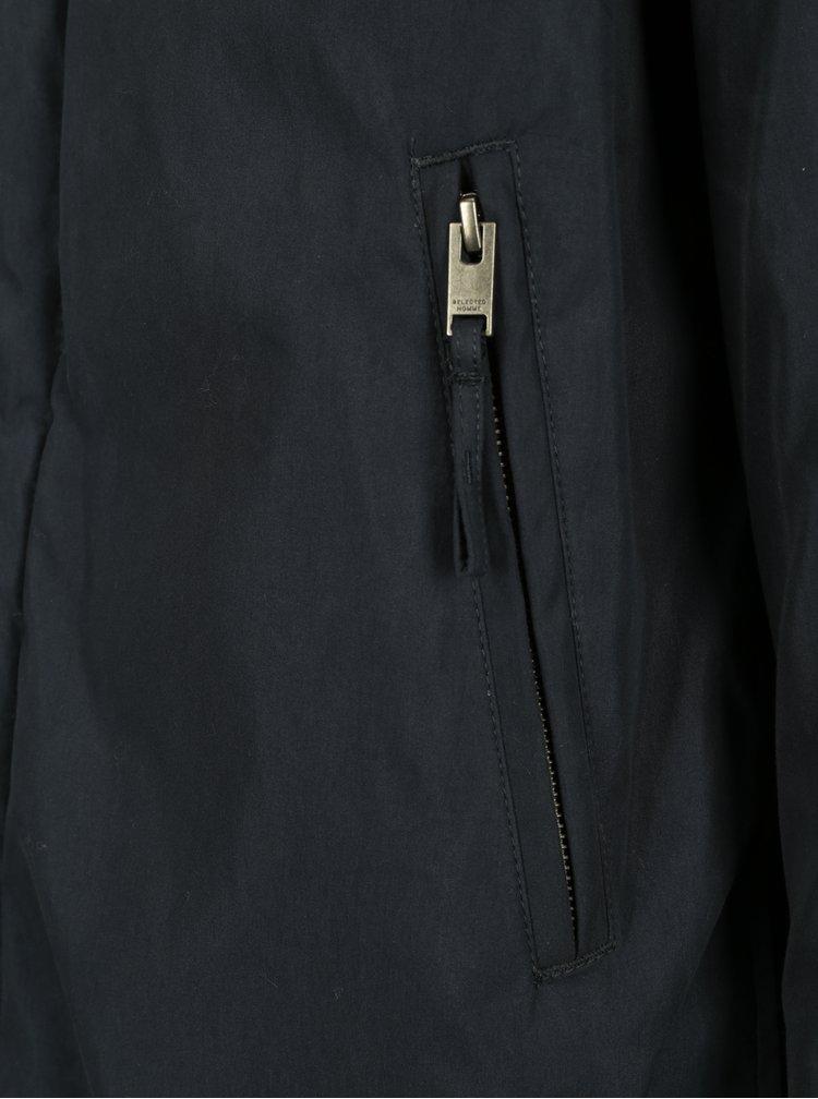 Tmavě modrá zimní bunda Selected Homme Jason