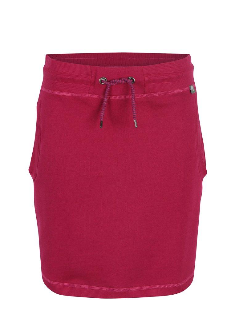 Tmavě růžová tepláková sukně s kapsami Tranquillo Amaia