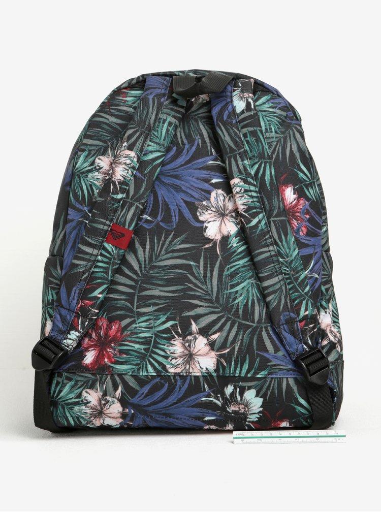 Černý dámský vzorovaný batoh s pruhy Roxy Be Young 24 l