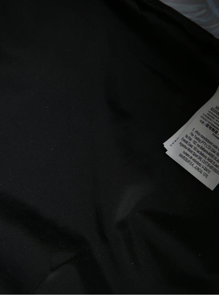 Rucsac negru cu imprimeu floral si cu dungi pentru femei - Roxy Be Young 24 l