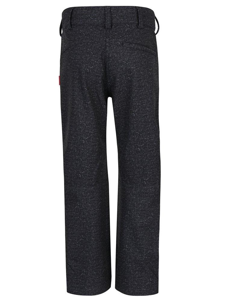 Tmavě šedé klučičí funkční voděodolné softshellové zateplené kalhoty Reima Mighty