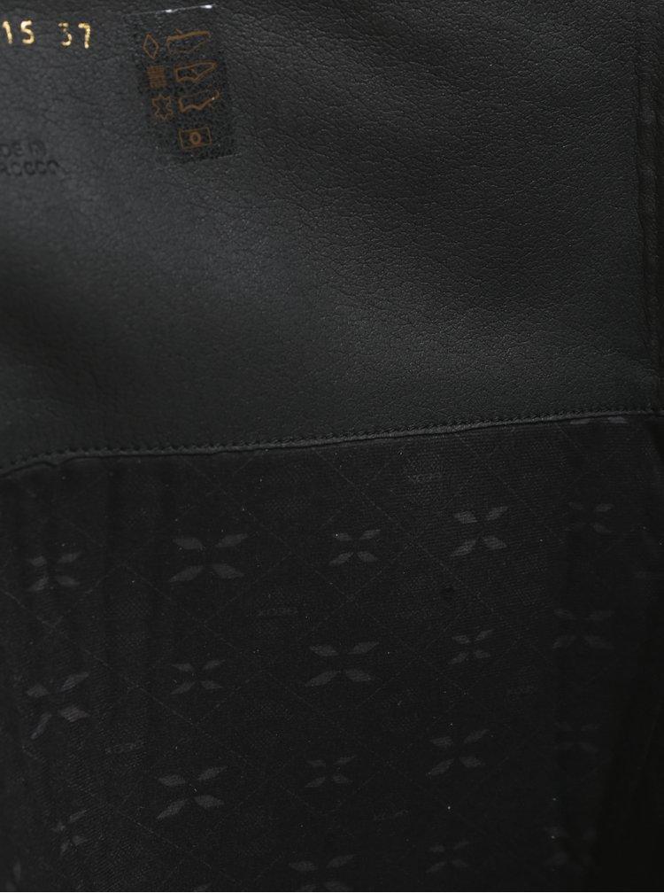 Cizme inalte negre din piele cu barete incrucisate pentru femei Geox Meldi ABX