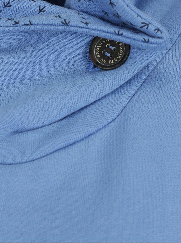 Modré mikinové šaty s vysokým límcem a kapsami Tranquillo Maitagorry