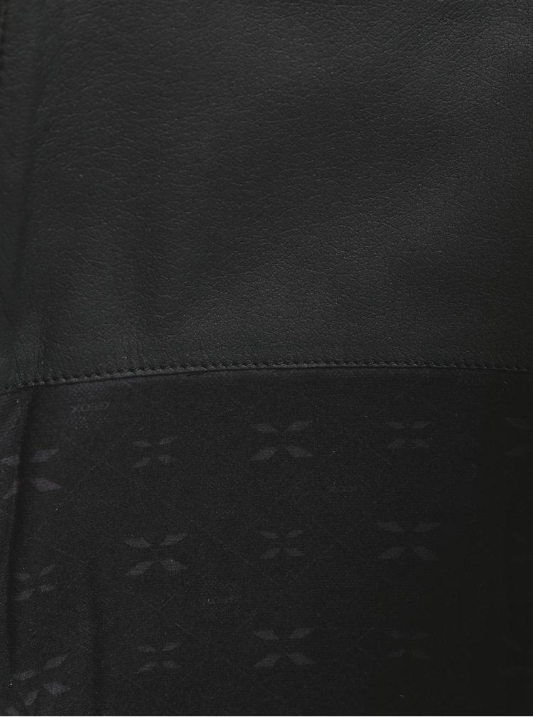 Hnědé kožené kozačky s přezkou Geox Meldi