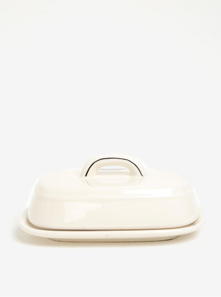 Untiera crem din ceramica cu capac Dakls