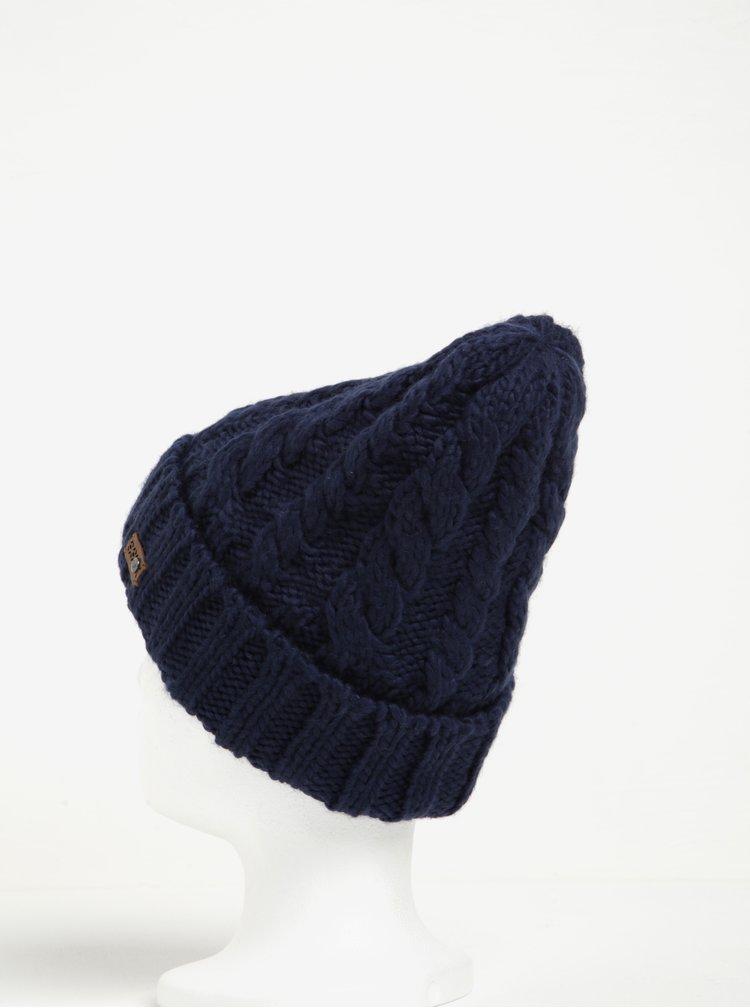 Tmavě modrá dámská pletená čepice Roxy Tram
