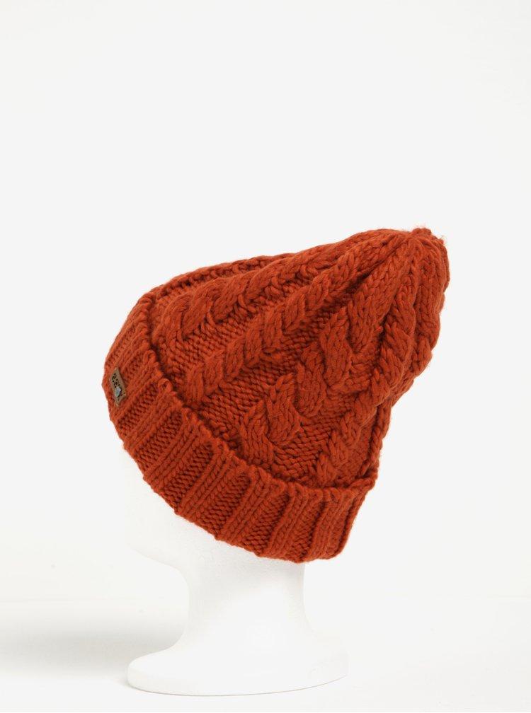 Cihlová dámská pletená čepice Roxy Tram