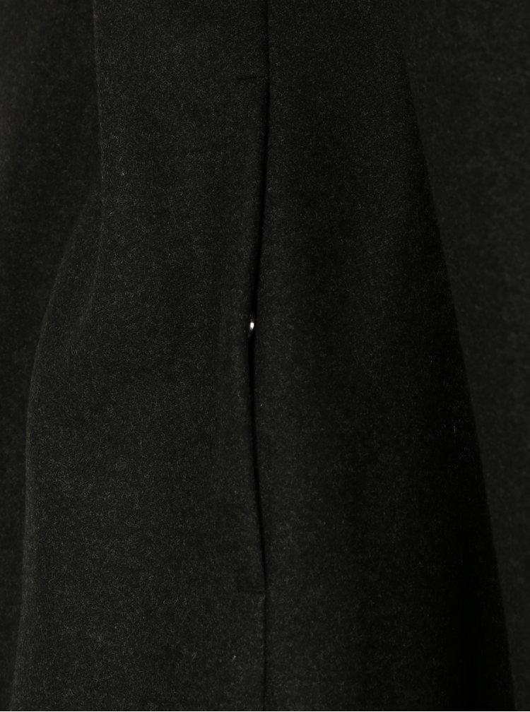 Palton gri inchis din amestec de lana Selected Homme Brove