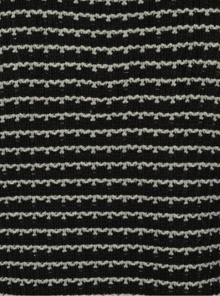 Šedo-černý pruhovaný svetr ONLY & SONS Tyson