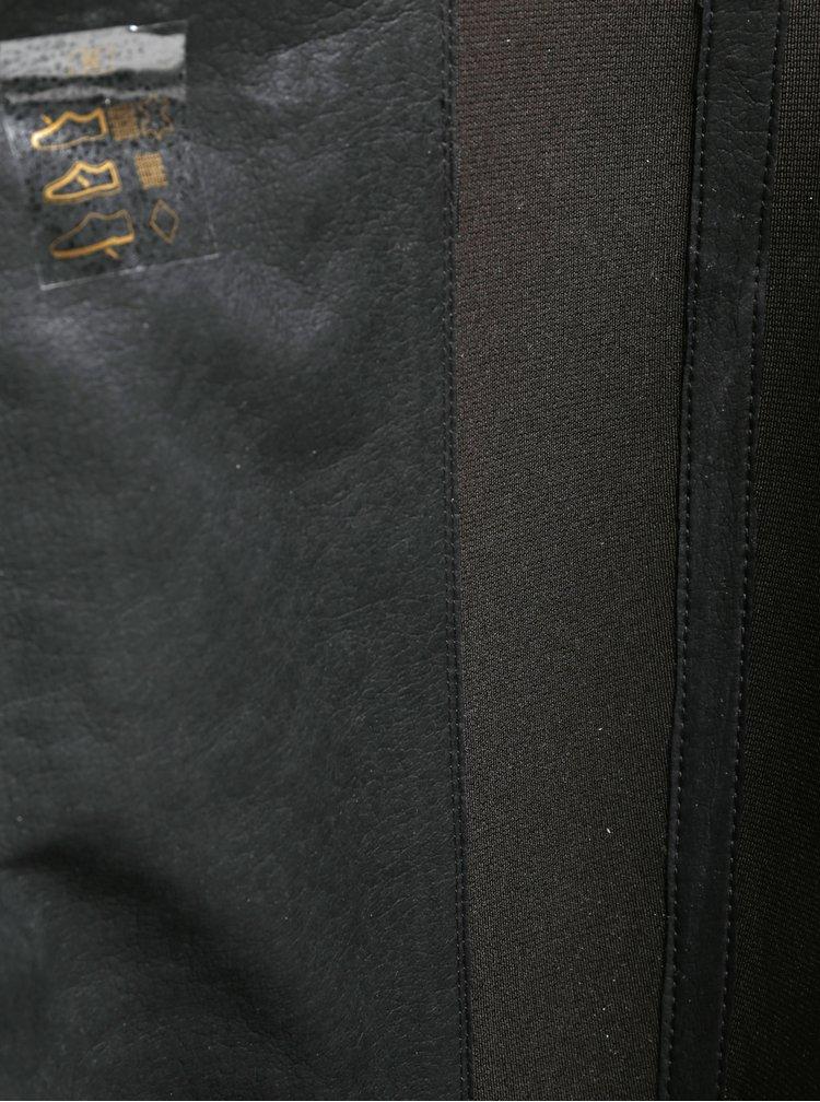 Cizme inalte maro din piele cu insertie elastica pentru femei  Geox New Lise