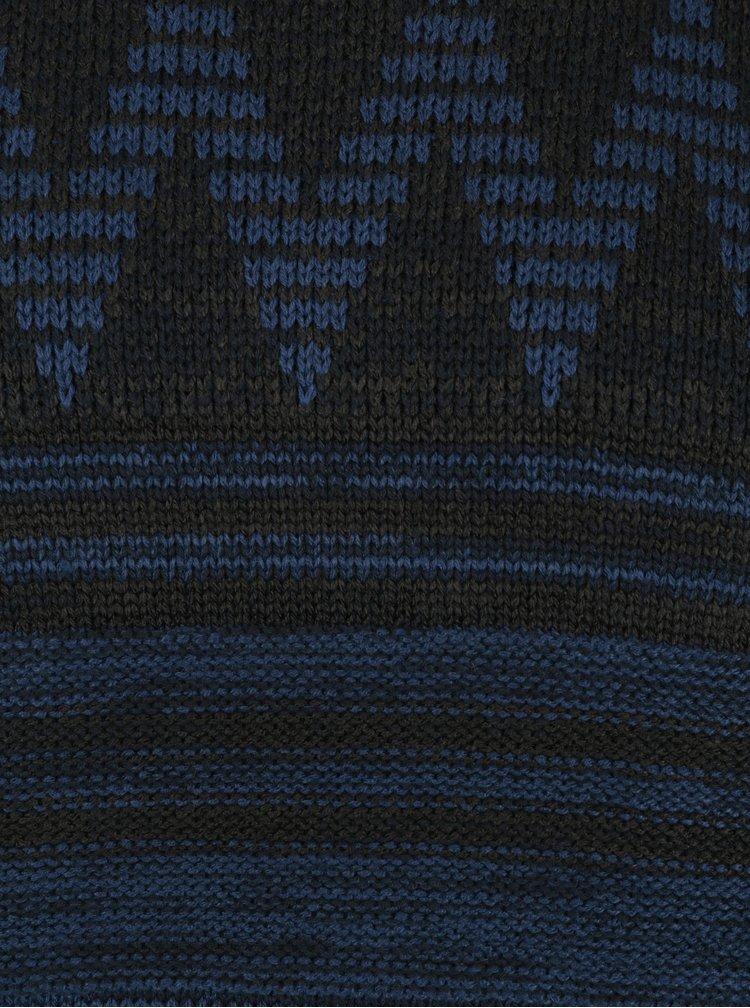 Pulover negru cu bleumarin cu model ONLY & SONS Dudley
