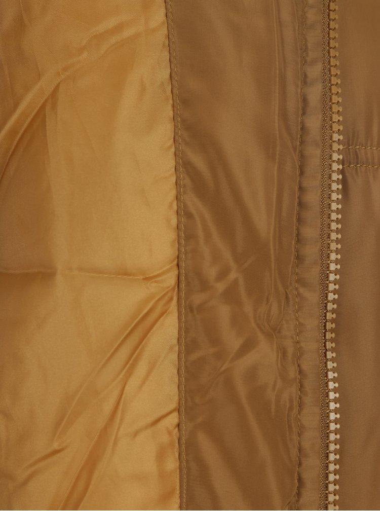 Hnědá prošívaná bunda Jacqueline de Yong Sola