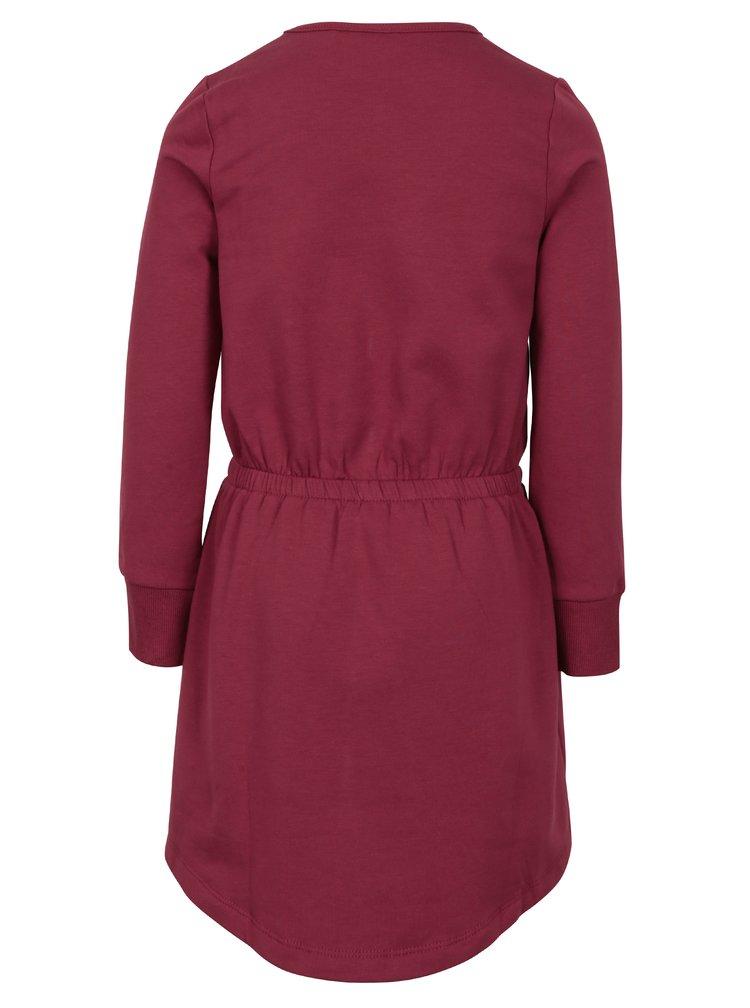 Tmavě růžové holčičí mikinové šaty name it Volta