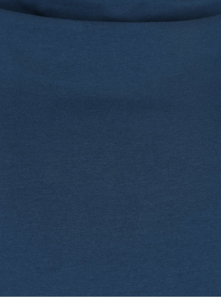 Petrolejové tričko s řasením v dekoltu Tranquillo Golda