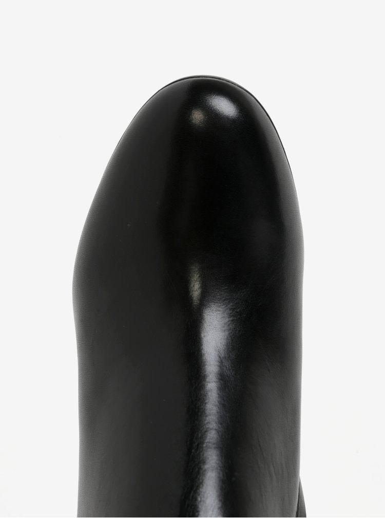 Pantofi negri din piele naturala cu toc mediu - Geox Inspirat