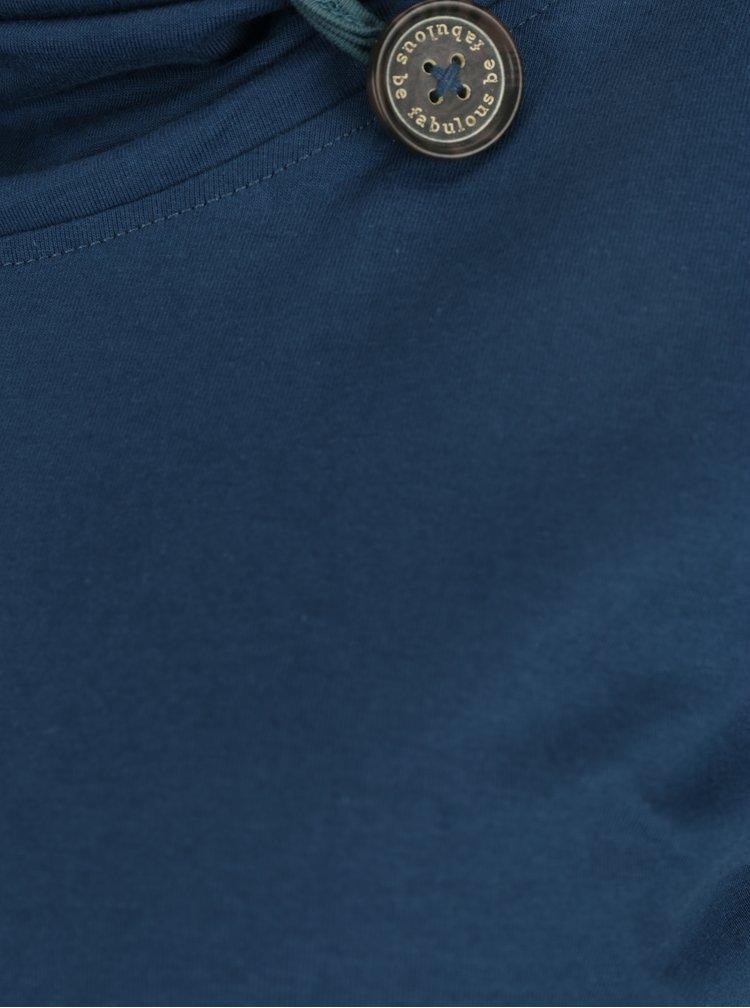Petrolejové tričko s límcem Tranquillo Noreen