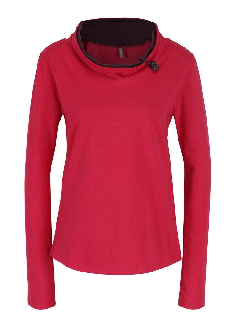 Růžové tričko s límcem Tranquillo Noreen