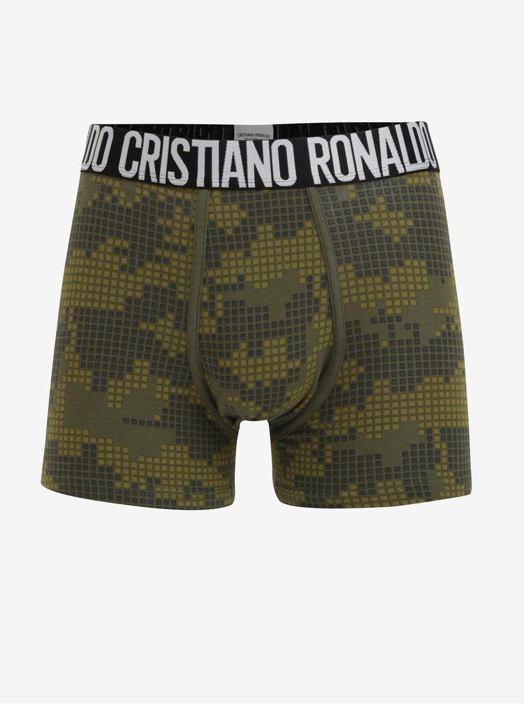 Sada dvou boxerek v černé a zelené barvě CR7