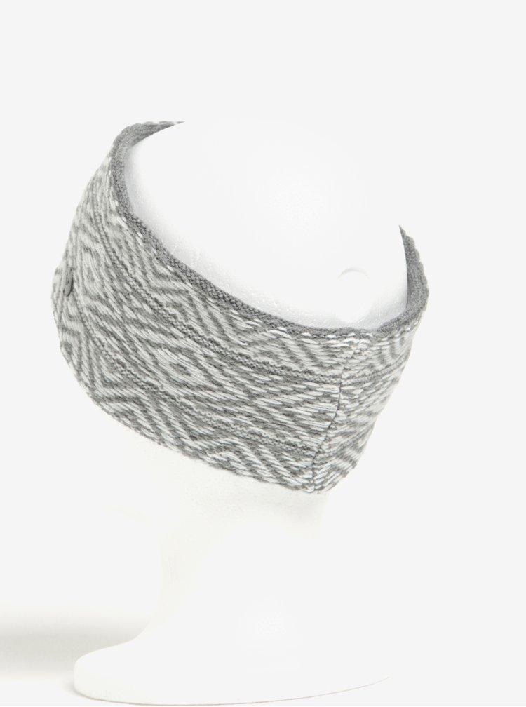 Bentita gri cu model geometric pentru femei -  Roxy Molly