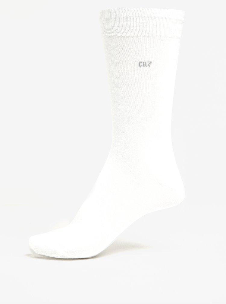 Set 3 perechi de șosete albe CR7