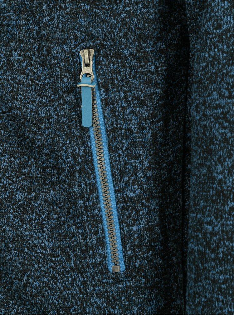 Modrá pánská žíhaná mikina s kapucí a kapsami LOAP Godet