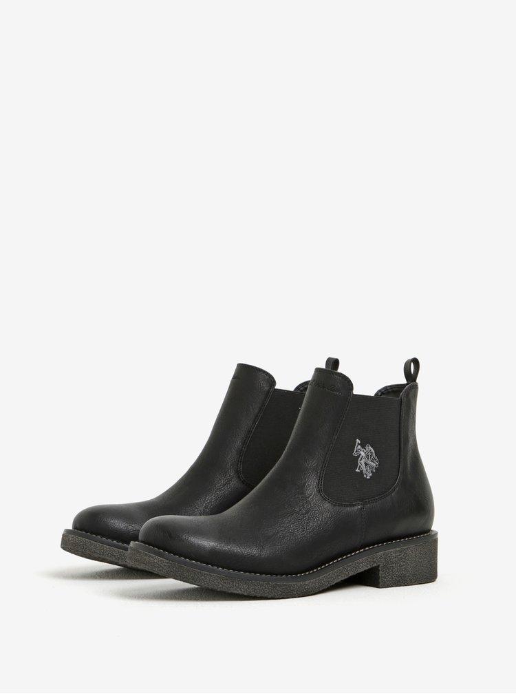 Černé chelsea boty U.S. Polo Assn.