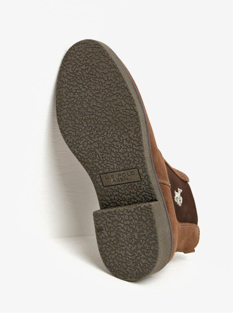 Hnědé semišové chelsea boty U.S. Polo Assn.