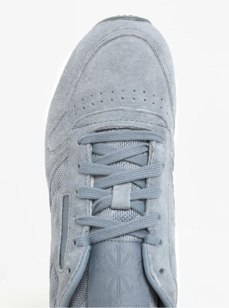 Světle modré dámské semišové tenisky Reebok