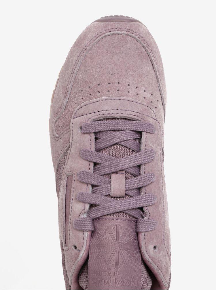 Světle fialové dámské semišové tenisky Reebok