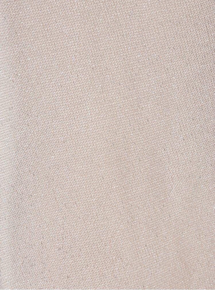 Starorůžový třpytivý kardigan s dlouhými cípy VILA Inch