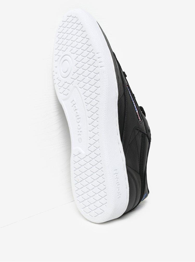 Černé pánské kožené tenisky Reebok CLUB C 85 SO