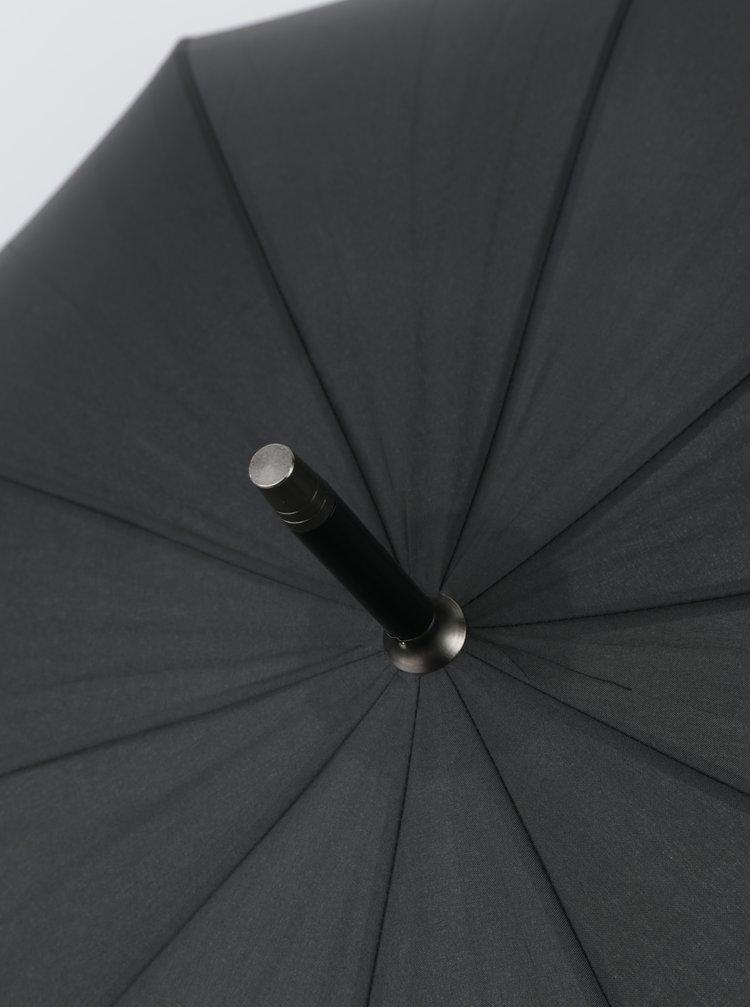 Umbrelă neagră pliabilă pentru bărbați RAINY SEASONS Executive