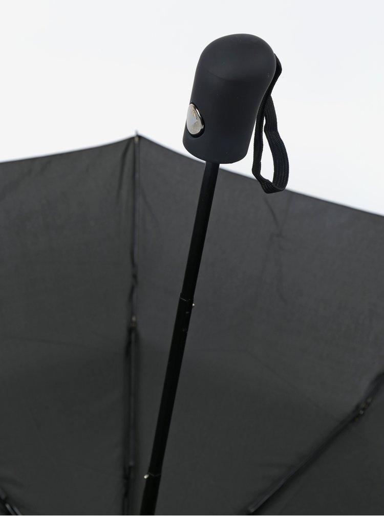 Umbrelă neagră telescopică pentru bărbați RAINY SEASONS Executive