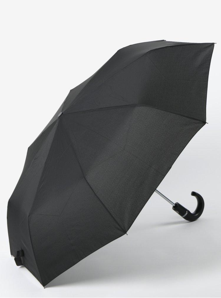 Umbrela neagra telescopica si pliabila RAINY SEASONS Crook