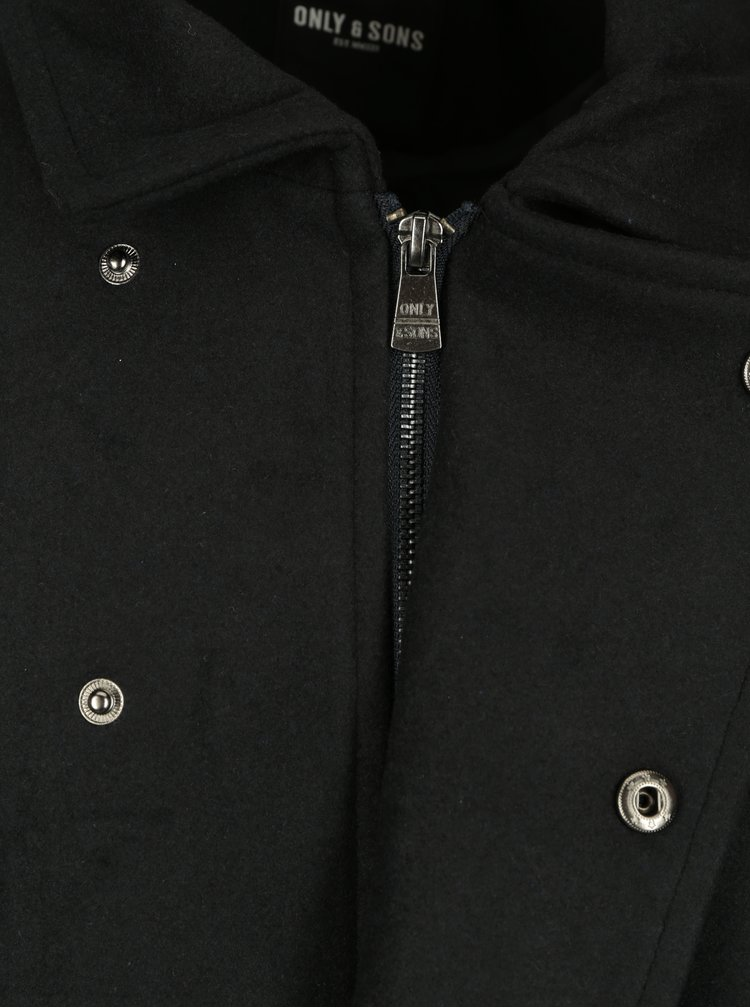 Tmavě modrý kabát ONLY & SONS Palmer