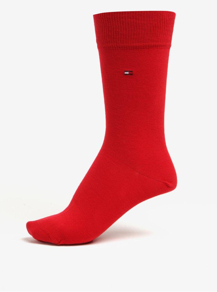 Dárková sada čtyř párů pánských ponožek v modré a červené barvě Tommy Hilfiger