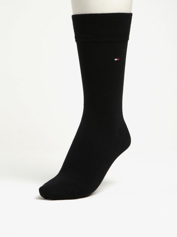 Darčeková súprava piatich párov pánskych ponožiek v čiernej a sivej farbe Tommy Hilfiger