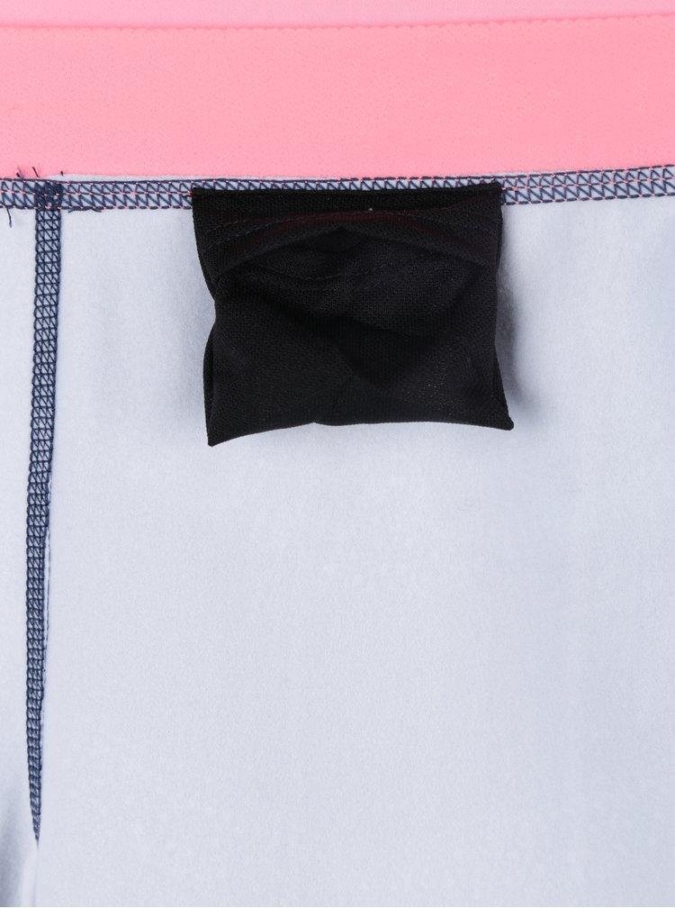 Růžovo-modré dámské vzorované funkční legíny Roxy Keep It Warm