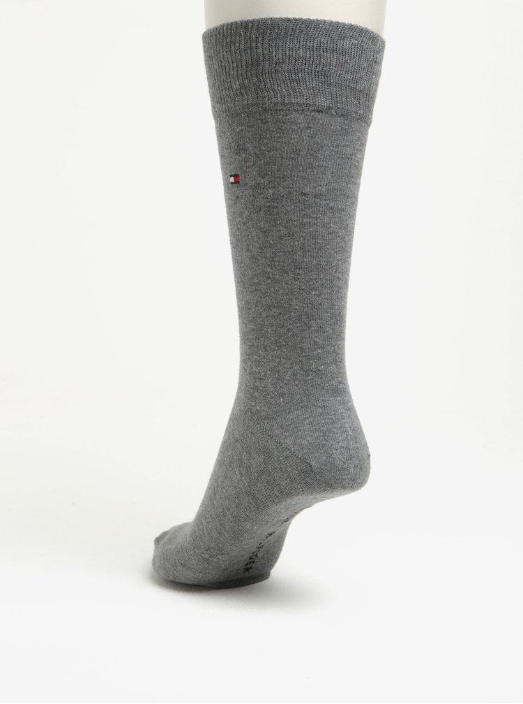 Súprava dvoch párov pánskych vzorovaných ponožiek v sivej farbe Tommy Hilfiger